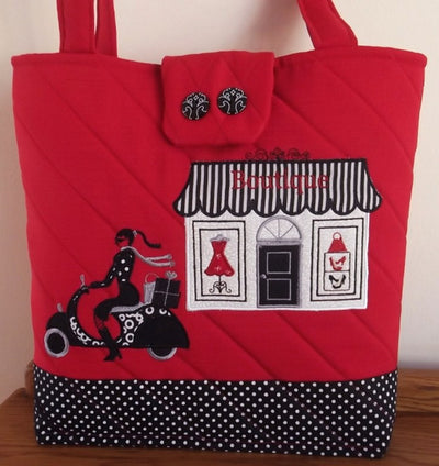 Vespa Shopping Girl Tote