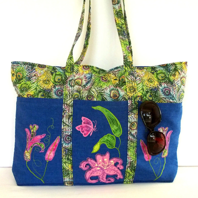 Bundle Tropical Summer Tote and Romantic Roses Sewing Caddy