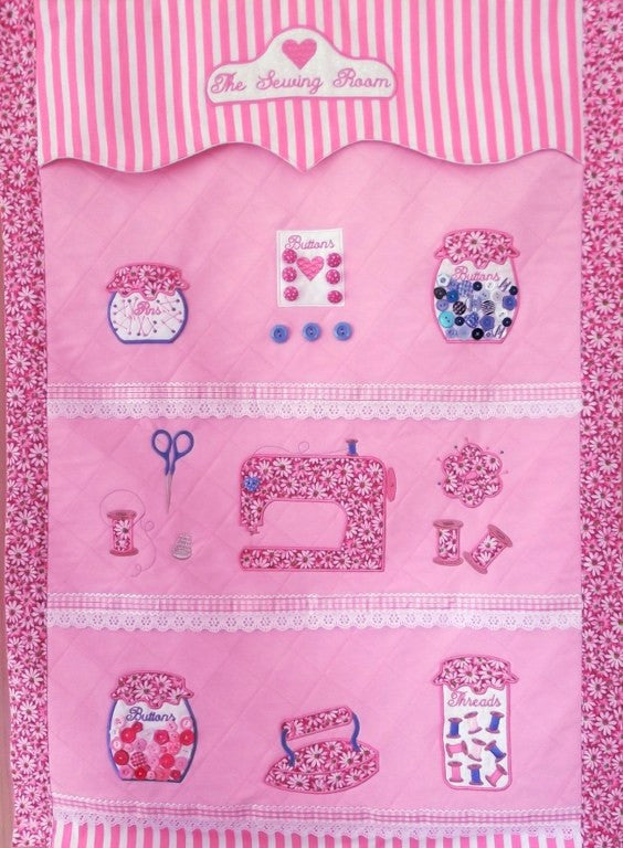 Bundle Sewing Room Wall Hanging and Machine Cover