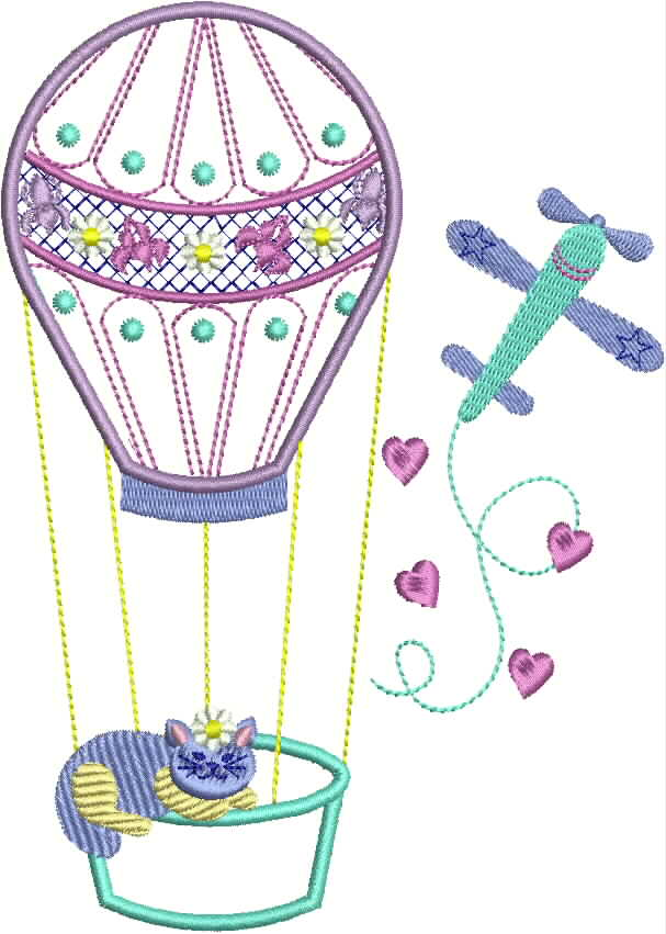 Hot Air Balloons Diaper Bag