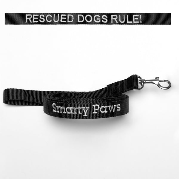 """Rescued Dogs Rule!"" The Dog Leash for the Happy and Proud Smarty Paws"