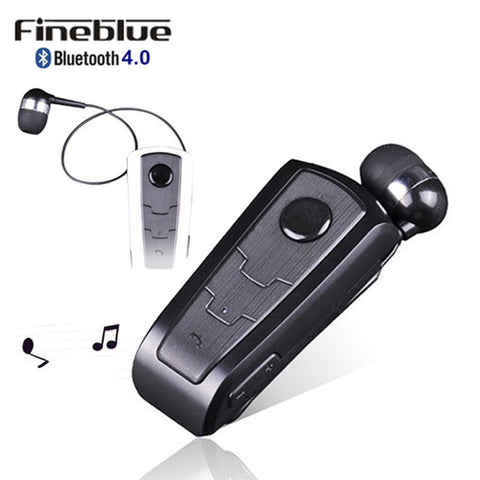 Wireless Bluetooth Earphone FineBlue F910 Calls Remind Vibration Headset With Collar Clip For iPhone Samsung Handfree Call