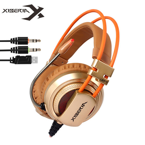 Gaming Headphones XIBERIA V10 Computer Stereo Game Headset ecouteur with Microphone LED Light For PC Gamer