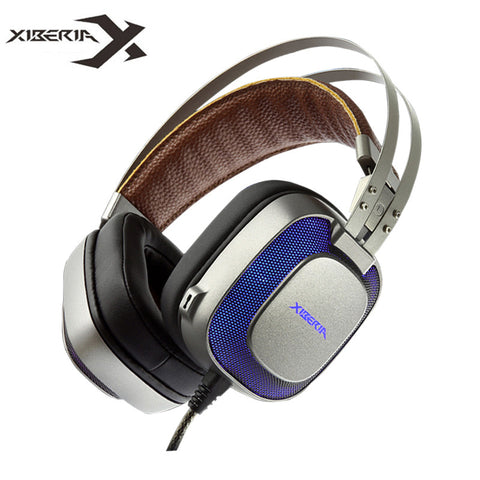 Xiberia K10 Stereo Gaming Headset casque with Microphone Mic/Breathing Light Best Headband Game Headphones for PC Gamer