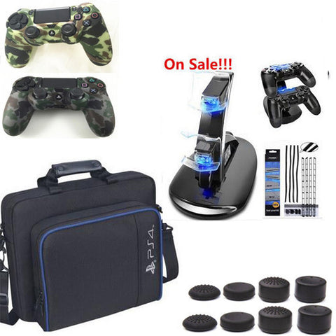 Multi-Function Carrying Case Cover Protective Bag Shoulder Bag+Charger+Dust Proof Kit+Stand For PlayStation 4 PS4 Console gifts