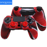 2 in 1 New Studded Anti-slip Silicone Rubber Cover Skin Case for Sony PlaySation Dualshock 4 PS4 Pro Slim Controller with 2 Grip