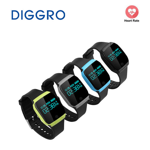 Diggro E07S Smart Bracelet IP67 Waterproof Swimming Watch Health Activity Fitness Tracker for iOS and Android Smart Wristband