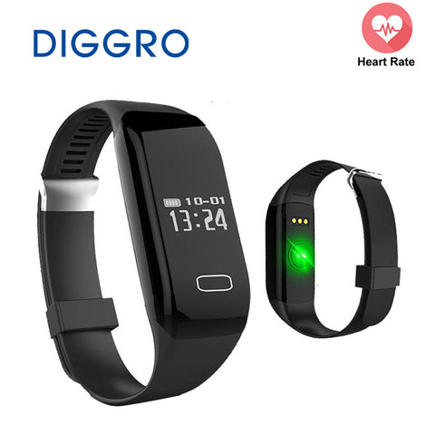 Smart Band Diggro H3 Heart Rate Monitor Activity Fitness Tracker Wristband Bracelet Watch Bracelet for IOS & Android Smartphone