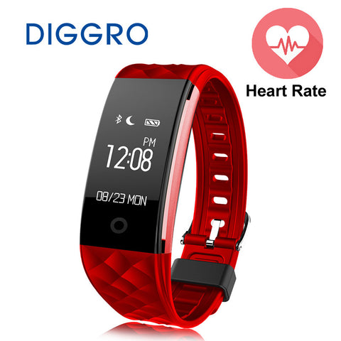 Diggro Bluetooth S2 Smart Wristband Band Heart Rate Monitor Sport IP67 Waterproof OLED Smartband Bracelet For Android IOS Phone