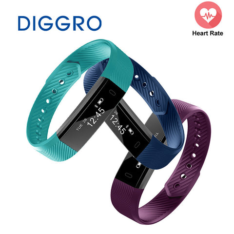 DIGGRO ID115 Smart Sport Bracelet Fitness Watch Activity Tracker Sleep Monitor Wristband Vibrating Alarm Clock Smartband