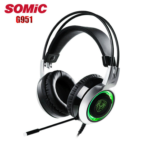 Somic G951 Computer Gaming Headphone casque USB Surround Stereo Game Gamer Headset with Mic Led Breathing Light fone de ouvido