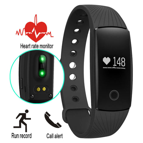 Diggro ID107 Heart Rate Smart Bracelet Watch Heart Rate Monitor Smart Band Wireless Fitness Tracker Wristband for Android iOS