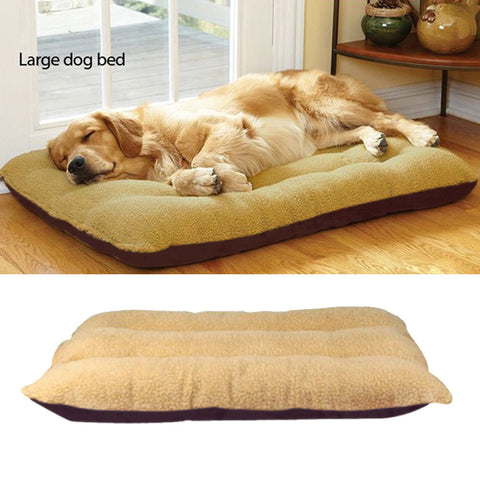 Double-Sided Fleece Bed for Large Dogs