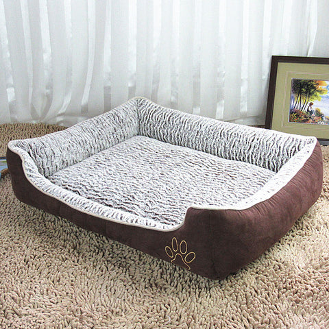 Fleece Dog Bed with Easy Access