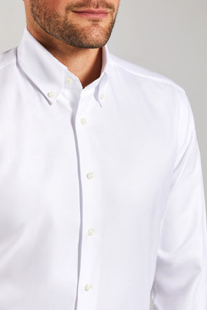 Classic Fit Weiß Oxford Button Down
