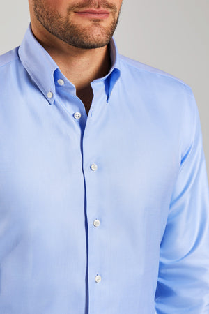 Classic Fit Blau Oxford