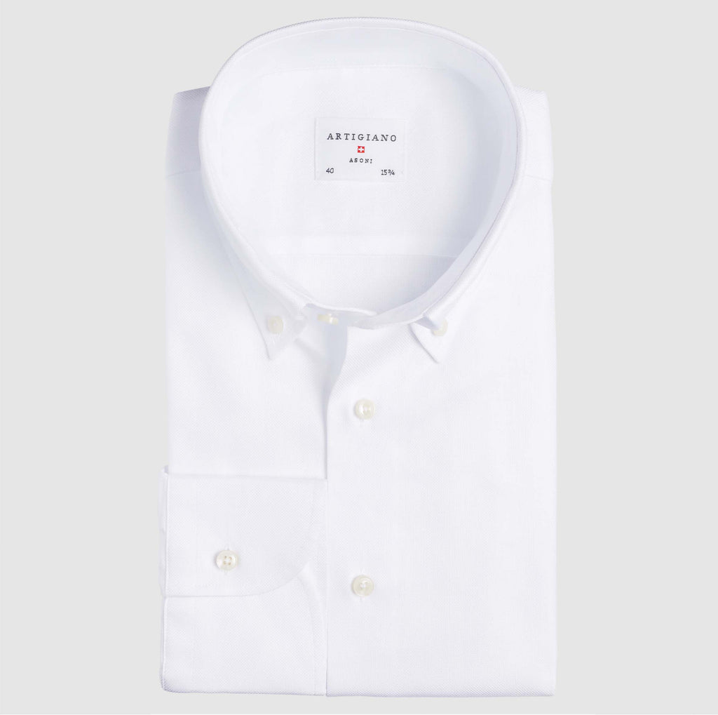 Slim Fit Weiß Oxford