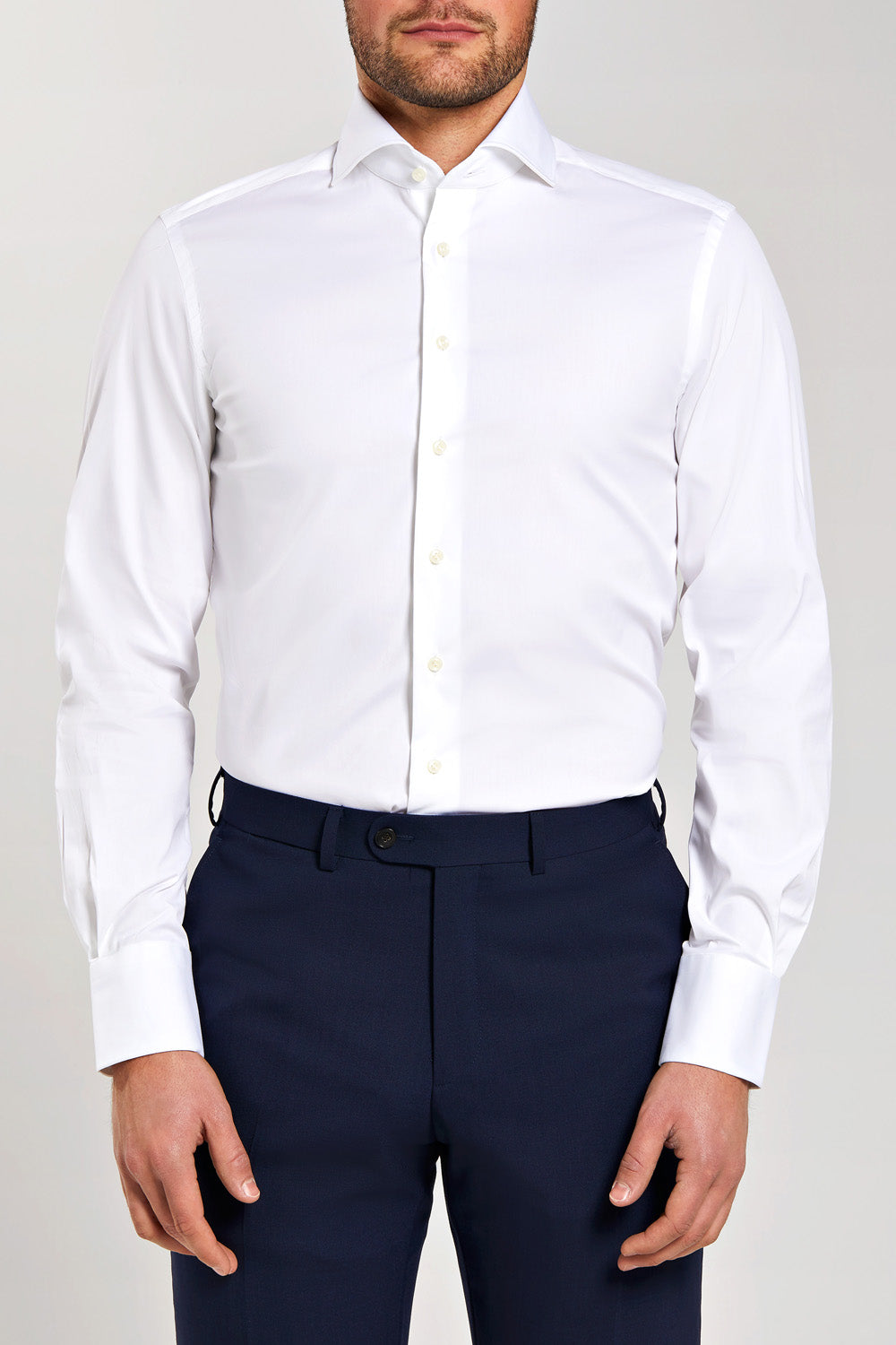 Slim Fit White Stretch