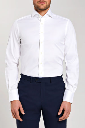Slim Fit Weißes Stretch
