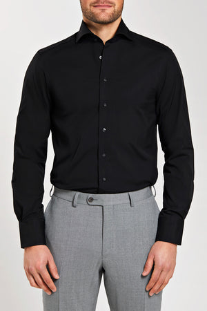 Slim Fit Black Stretch