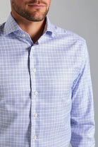 Classic Fit Blue Check Wrinkle Free