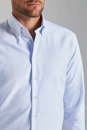 Classic Fit Blue Stripe Oxford