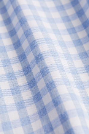 Classic Fit Light Blue Check Flannel
