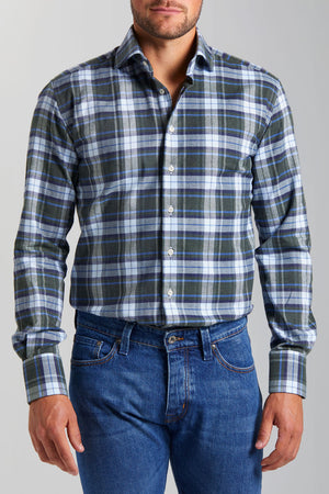 Classic Fit Green Check Flannel