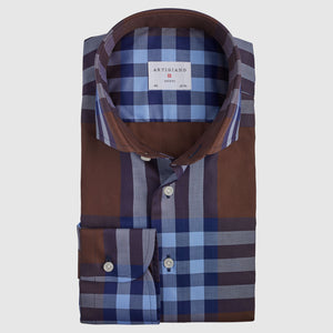 Classic Fit Brown Check