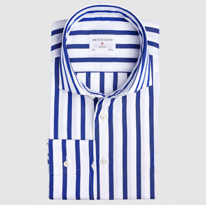 Classic Fit Navy Stripe