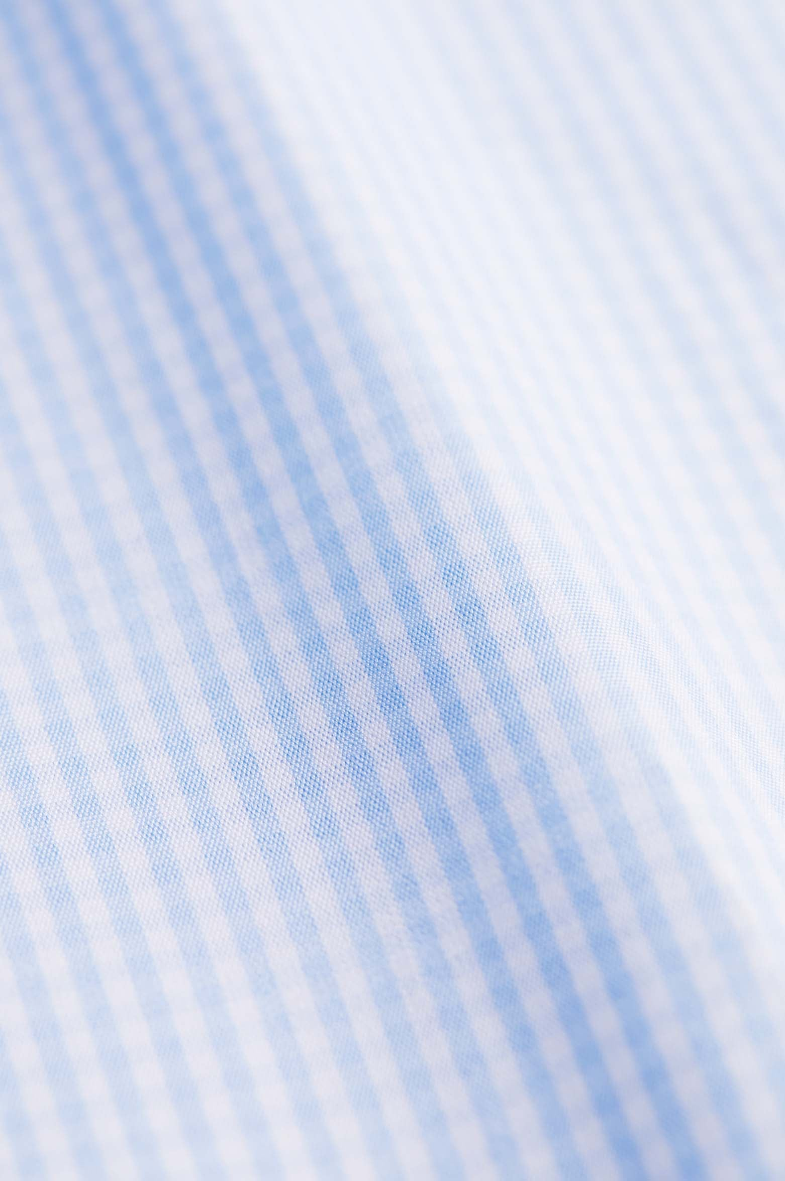 Classic Fit Light Blue Check