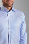 Classic Fit Light Blue Stripe Structure