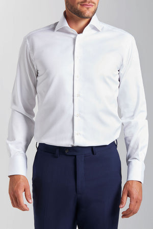 Classic Fit Weisser Twill
