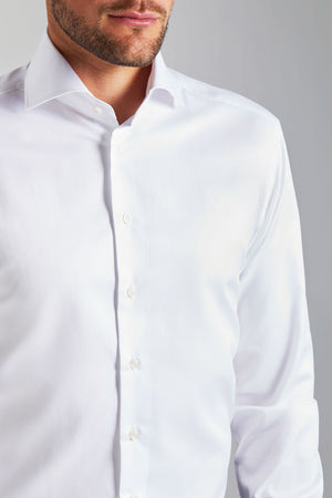 Classic Fit White Twill