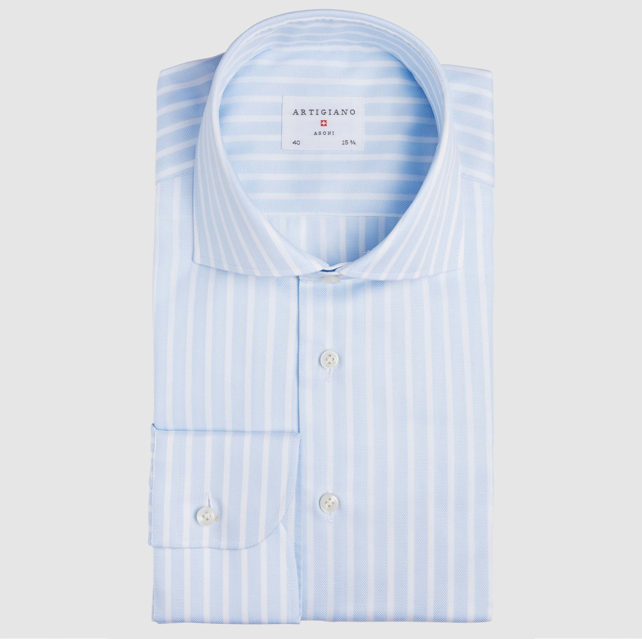 Classic Fit Light Blue Stripe