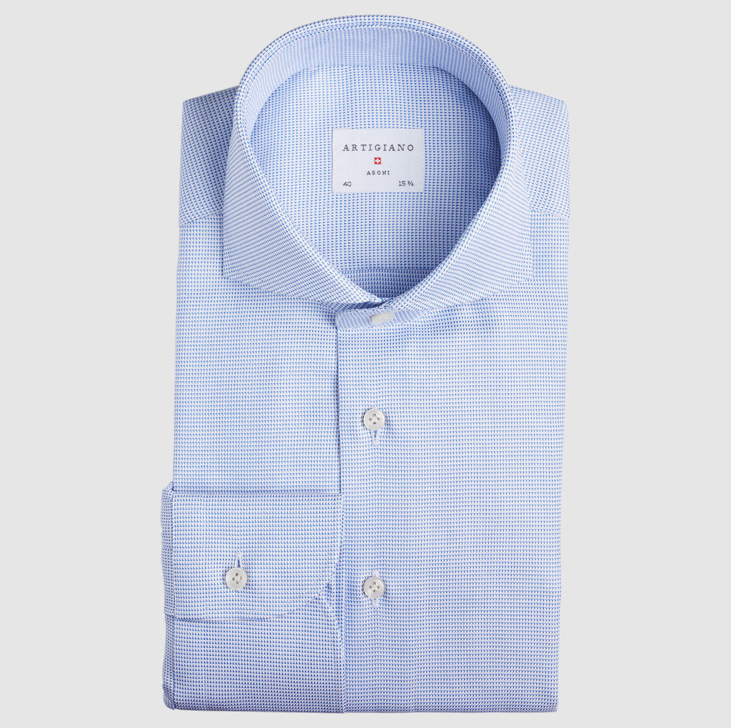 Slim Fit Light Blue Structure