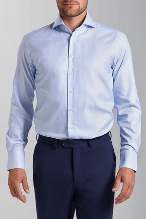 Slim Fit Hellblaue Struktur