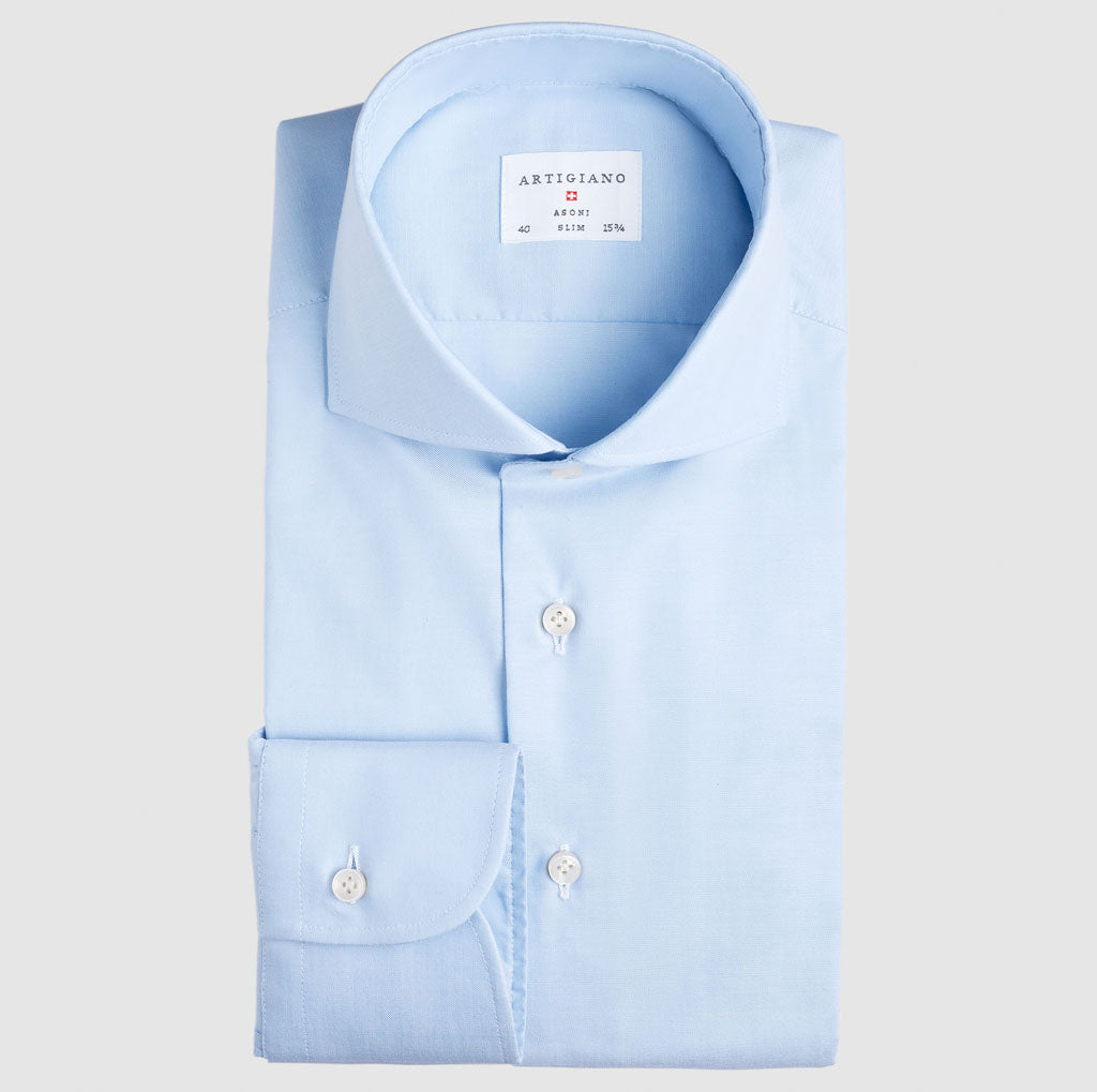 Classic Fit Light Blue Oxford Natural Stretch