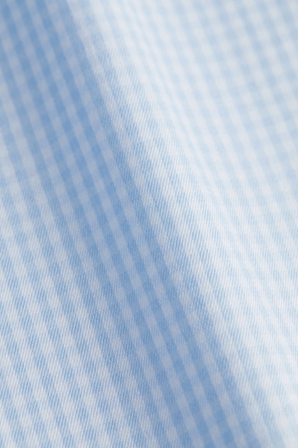 Slim Fit Light Blue Check Stretch