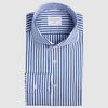 Slim Fit Blau Gestreift Stretch