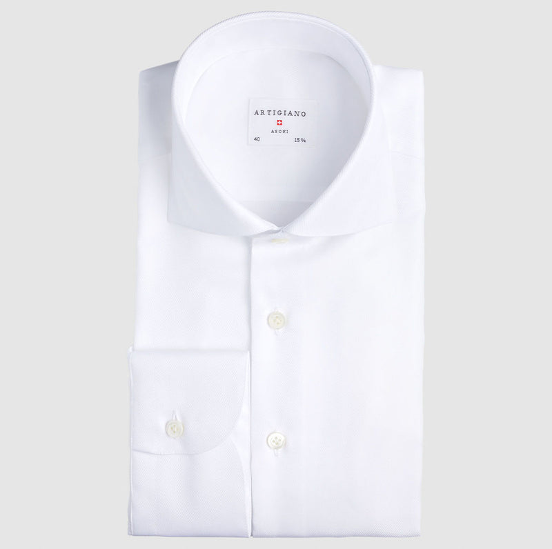Slim Fit White Faltenfrei