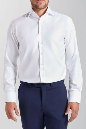 Slim Fit White Wrinkle Free