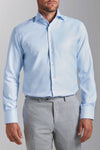 Slim Fit Hellblau Wrinkle Free