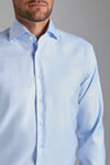 Slim Fit Light Blue Faltenfrei