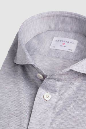 Polo Classic Fit Light Grey Pique