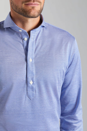 Polo Classic Fit Blue Pique