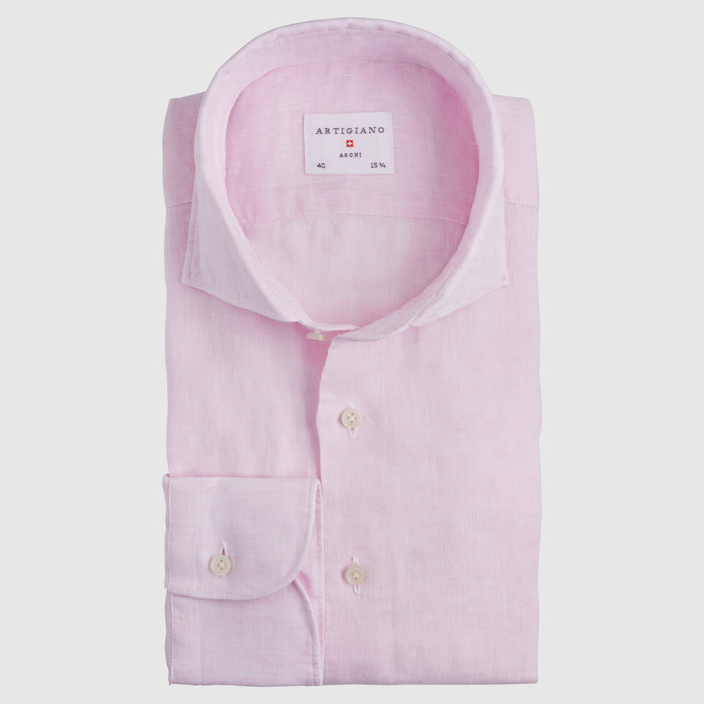 Classic Fit Pink Linen