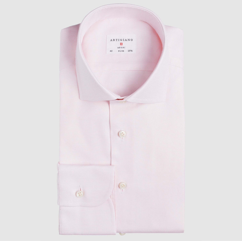 Slim Fit Oxford Rosa