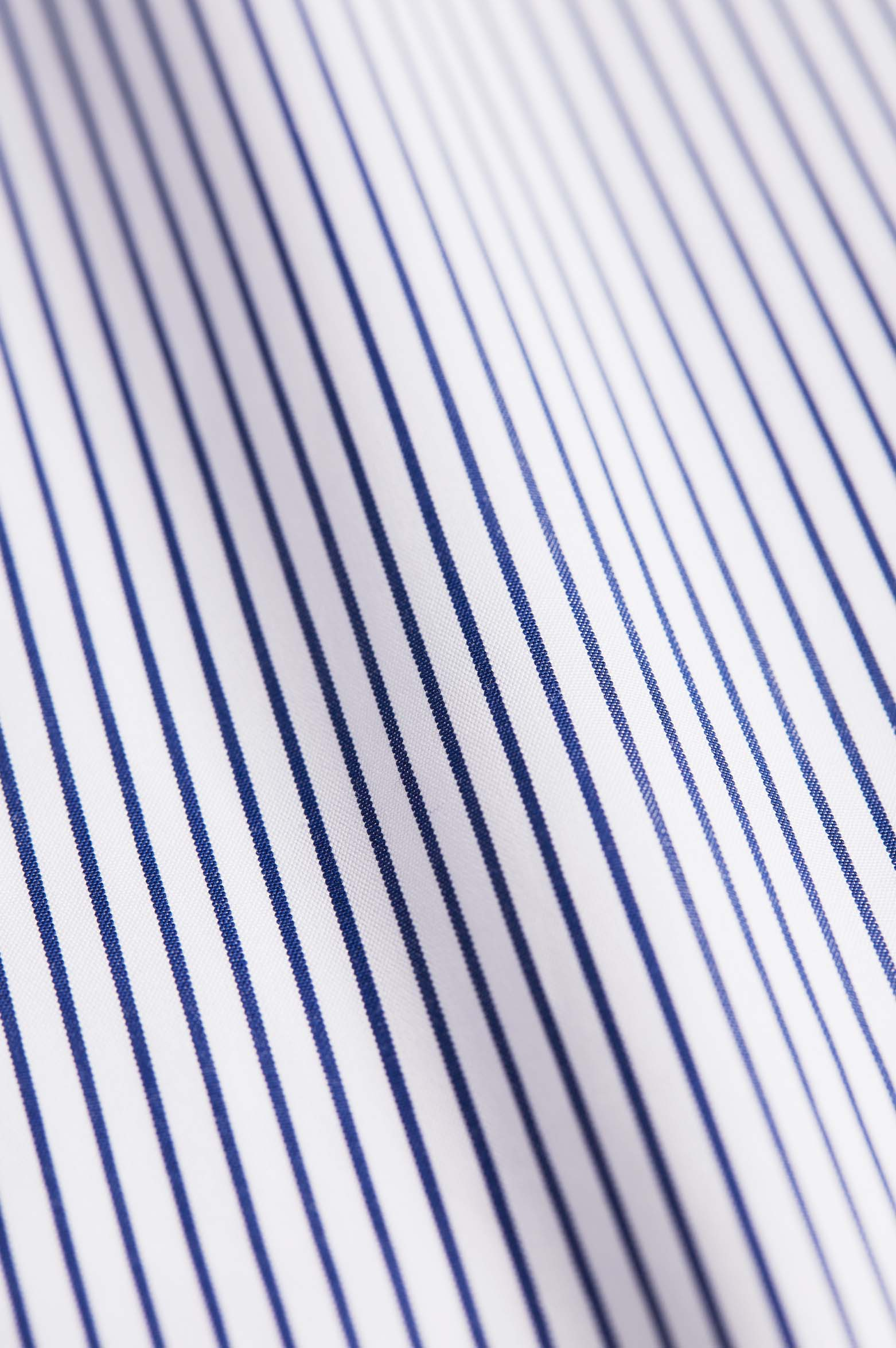 Slim Fit Navy Stripe Poplin