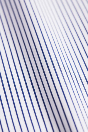 Slim Fit Navy Stripe